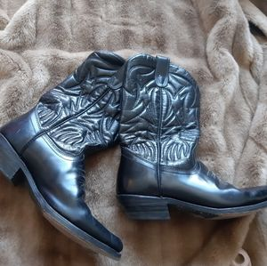 Custom made cowboy - western boots leather
